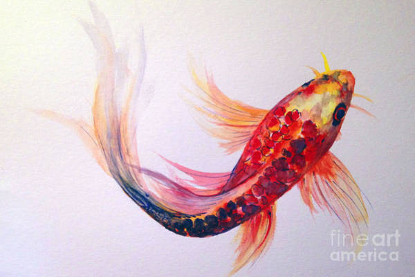Painting - Rainbow Koi by Lauren Heller
