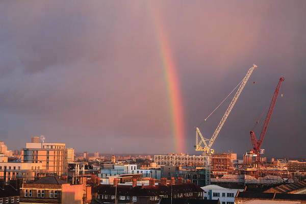 Canary Wharf Photograph - Rainbow London by Le Chateau Ludic