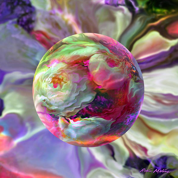 Floral Digital Art - Rainbow Of Roses by Robin Moline