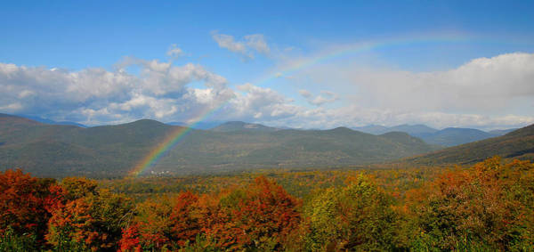 Photograph - Rainbow Over Bartlett Nh by Ken Stampfer