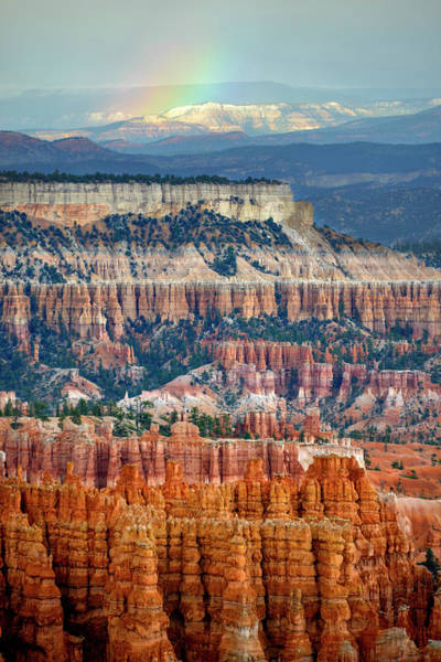 Rock Formation Photograph - Rainbow Over Bryce Canyon by Kim Van Dijk Photography