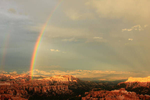Paria Photograph - Rainbow Over Bryce by Johnny Adolphson