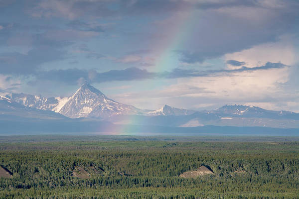 Copper Mountain Photograph - Rainbow Over Copper River, Alaska, Usa by Tom Norring