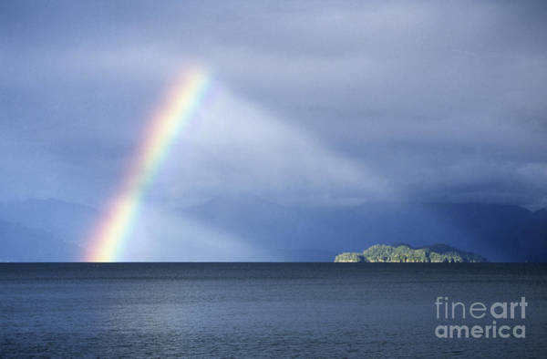 Photograph - Rainbow Over Lake Todos Santos Chile by James Brunker