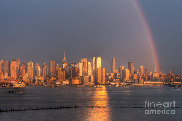 Photograph - Rainbow Over New York City I by Clarence Holmes