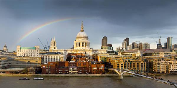 Photograph - Rainbow Over St Paul's by Gary Eason