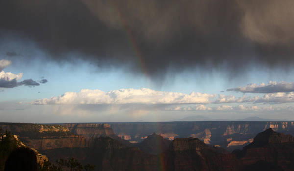 Photograph - Rainbow Over The Grand Canyon by Jean Clark