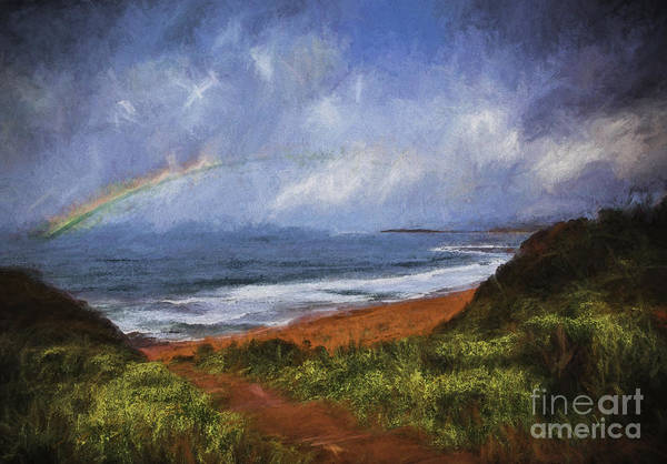 Wall Art - Photograph - Rainbow Over Warriewood Beach by Sheila Smart Fine Art Photography