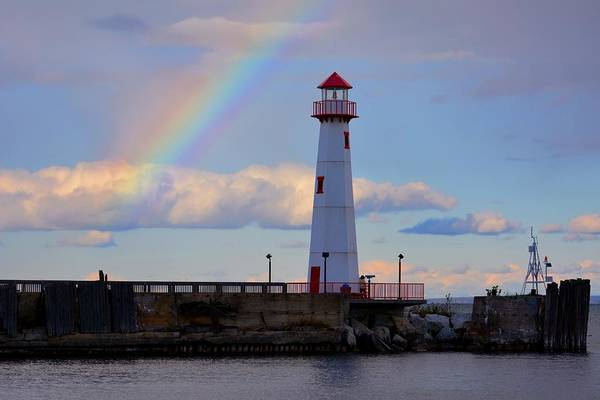 Photograph - Rainbow Over Watwatam Light by Keith Stokes