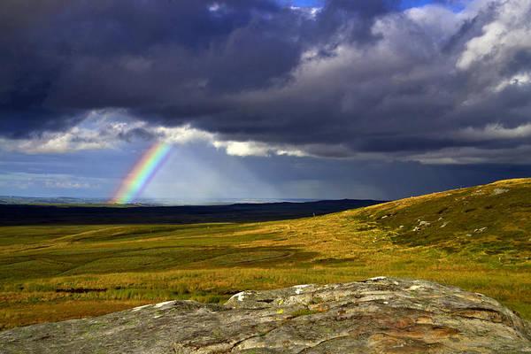Rainbow Over Yorkshire Moors - Tann Hill Art Print