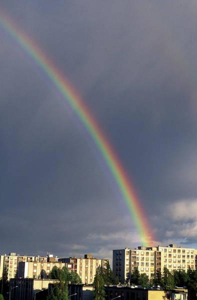 Scandinavian Photograph - Rainbow by Pekka Parviainen/science Photo Library