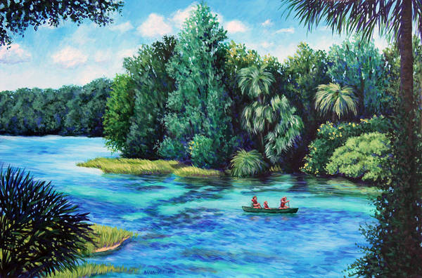 Painting - Rainbow River At Rainbow Springs Florida by Penny Birch-Williams