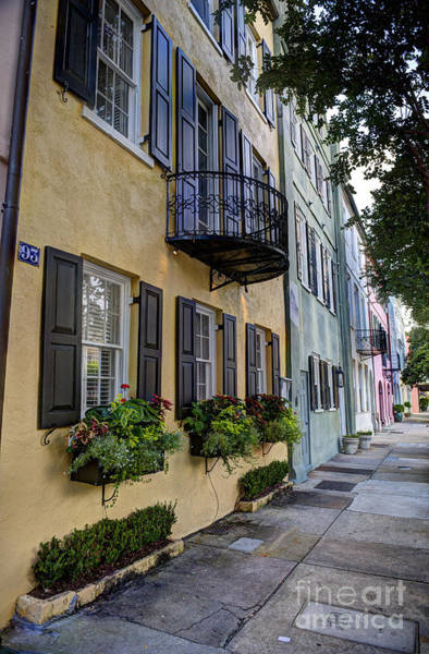 Photograph - The Famous Rainbow Row  by Dale Powell
