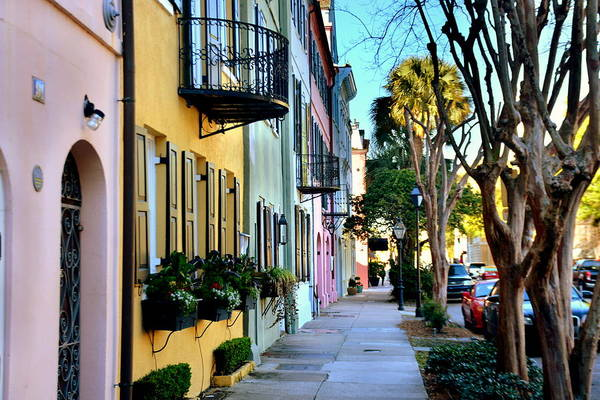 Wall Art - Photograph - Rainbow Row Hdr by Lisa Wooten