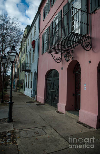 Photograph - Rainbow Row Vertical by Dale Powell