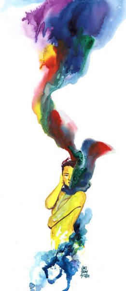 Wall Art - Painting - Rainbow Scarf by Ken Meyer