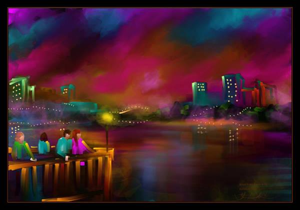Wall Art - Painting - Rainbow Sky - Scratch Art Series - #58 by Steven Lebron Langston