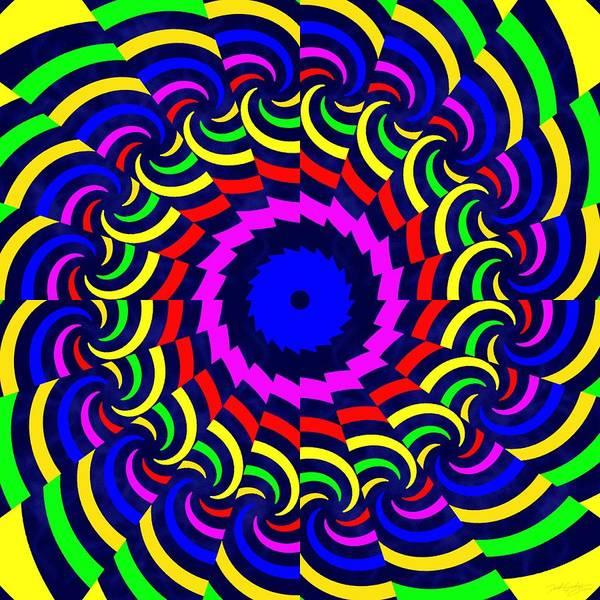 Digital Art - Rainbow Spirals by Derek Gedney