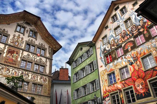 Wall Mural Photograph - Rainbow Corner  Lucerne by Carol Japp