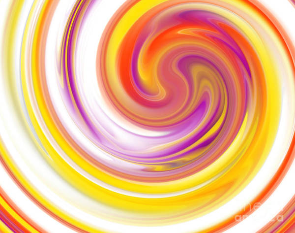Curl Up Painting - Rainbow Swirl by Stefano Senise