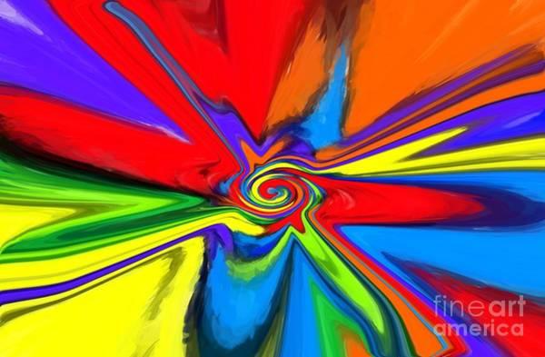 Whirl Digital Art - Rainbow Time Warp by Chris Butler