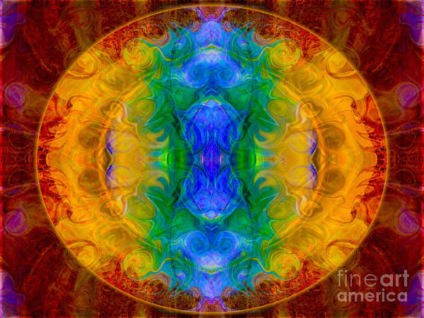 Digital Art - A Rainbow Of Chaos Abstract Mandala Artwork By Omaste Witkowski by Omaste Witkowski