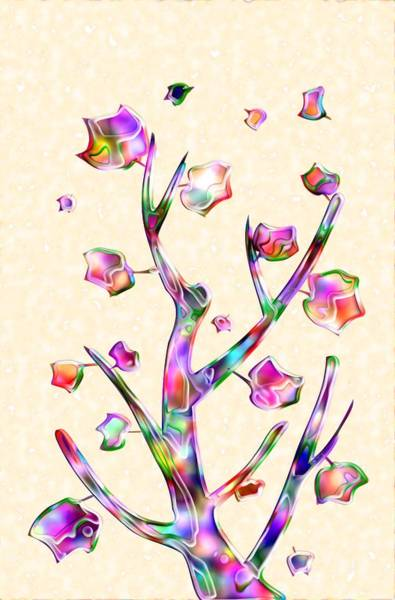 Digital Art - Rainbow Tree by Anastasiya Malakhova