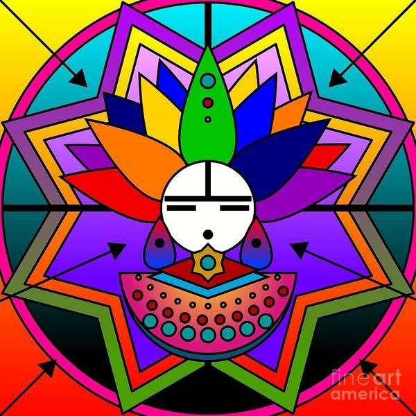 Digital Art - Rainbow Warrior Kachina 2012 by Kathryn Strick