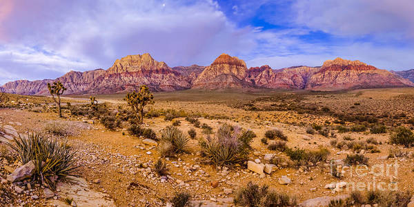 Wall Art - Photograph - Rainbow Wilderness Panorama At Red Rock Canyon Before Sunrise - Las Vegas Nevada by Silvio Ligutti