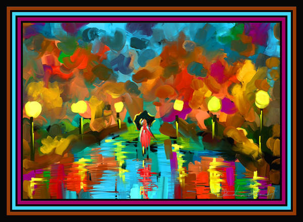 Wall Art - Painting - Rainbows And Rain by Steven Lebron Langston