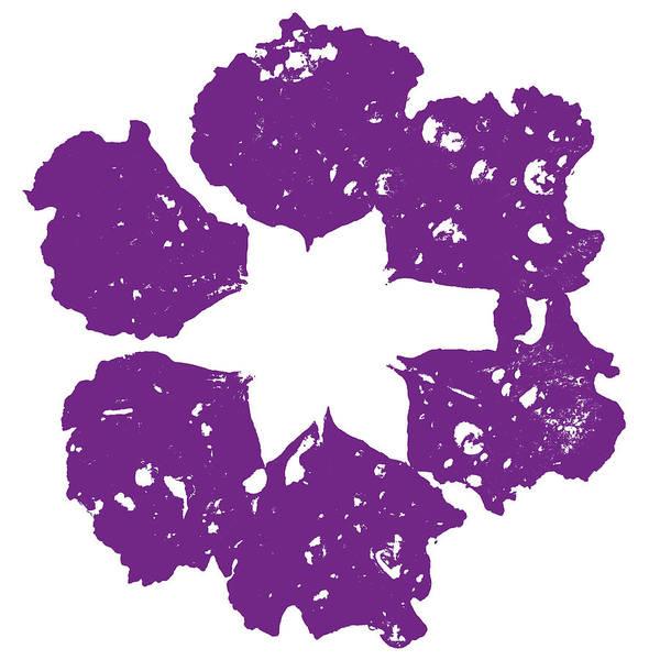 Purple Rain Digital Art - Raindrop Flower - Purple by Saya Studios