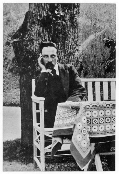 Wall Art - Photograph - Rainer Maria Rilke  German Poet Sitting by Mary Evans Picture Library
