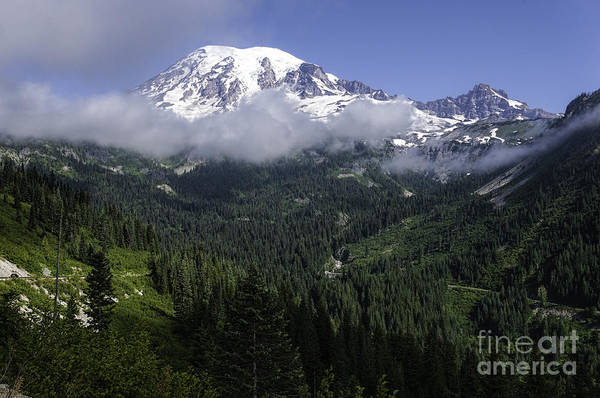 Photograph - Rainier And Clouds by Sharon Seaward