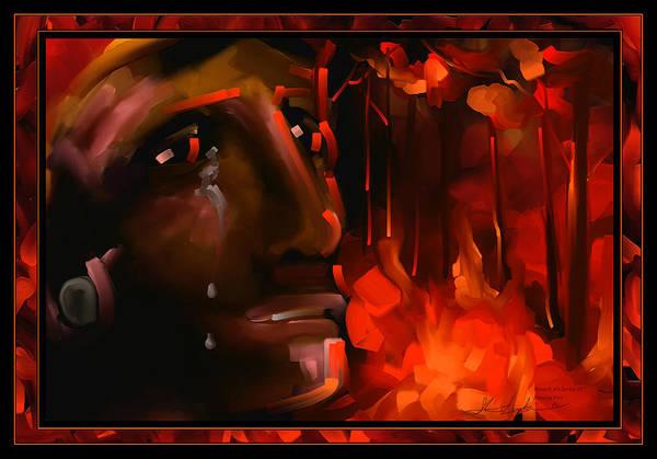 Wall Art - Painting - Raining Fire - Scratch Art Series - #57 by Steven Lebron Langston