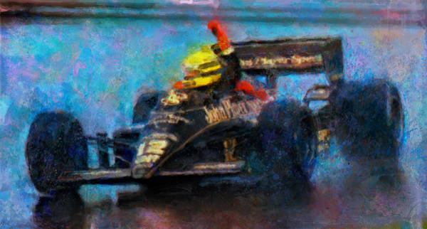Formula One Digital Art - Rainman by Alan Greene