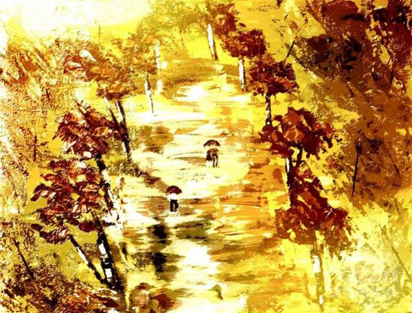 Painting - Rainy Autumn Trail  by Denise Tomasura