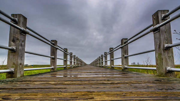 Photograph - Rainy Boardwalk by Randy Scherkenbach