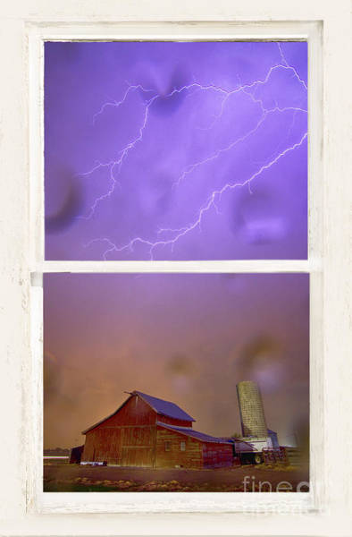 Photograph - Rainy Country Barn White Rustic Window View by James BO Insogna