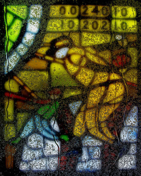 Leaded Glass Painting - Rainy Day 1 by Jack Zulli
