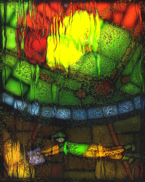 Leaded Glass Painting - Rainy Day 2 by Jack Zulli