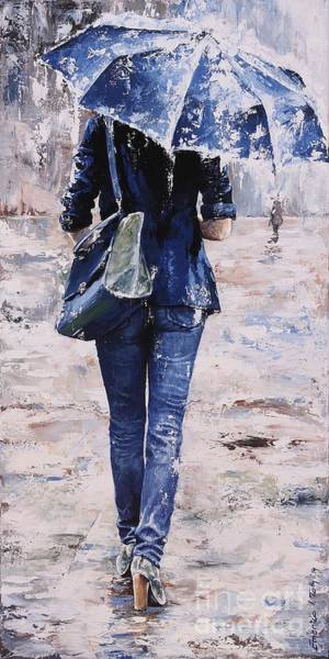 Shopping Painting - Rainy Day #22 by Emerico Imre Toth