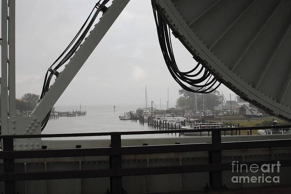 Photograph - Rainy Day At The Bascule Bridge At Knapps Narrows Bridge On Tilghman Island In Maryland by William Kuta