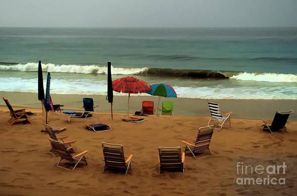 Digital Art - Rainy Day At The Beach In Bethany Beach In Delaware by William Kuta