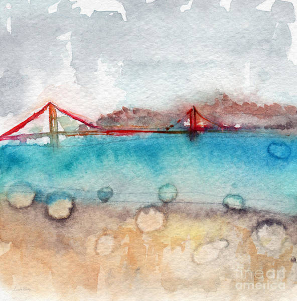Golden Gate Bridge Painting - Rainy Day In San Francisco  by Linda Woods
