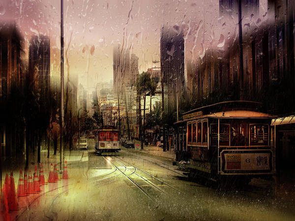 Tram Wall Art - Photograph - Rainy Day In San Francisco by Luba Chapman
