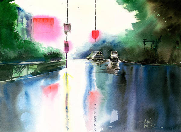 Painting - Rainy Day New by Anil Nene
