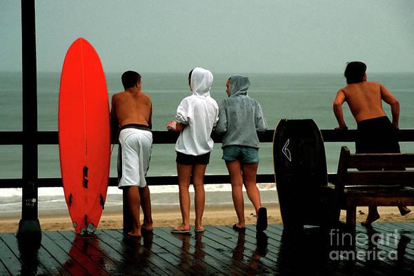 Digital Art - Rainy Day On The Boardwalk At Bethany Beach In Delaware by William Kuta