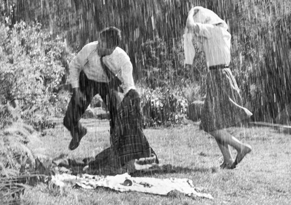 Wall Art - Photograph - Rainy Day Picnic by Underwood Archives