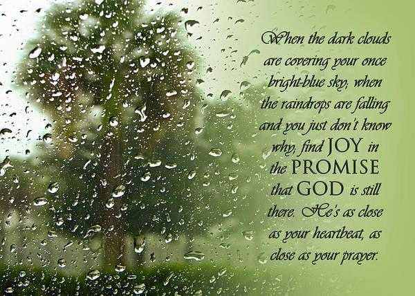 Photograph - Rainy Day Promise by Carolyn Marshall