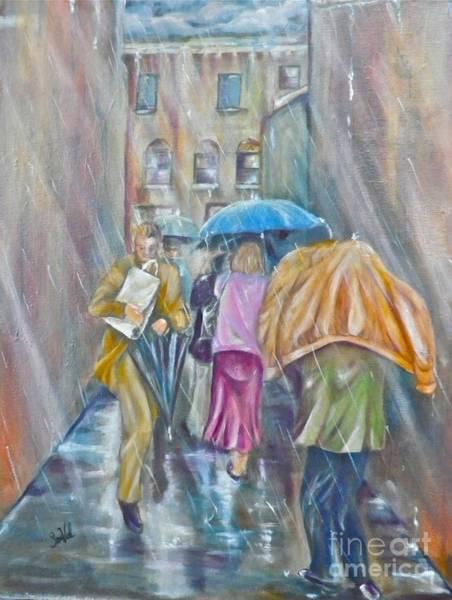 Wall Art - Painting - Rainy Day Shopping by Sandra Valentini